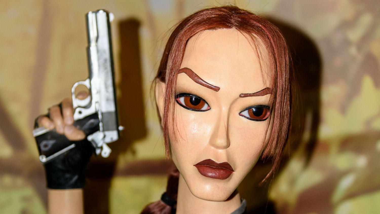 Lara Croft wax model
