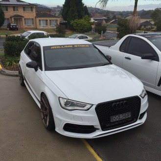 Audi with Rolling Stock