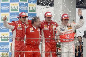 kimi brasile 2007 podio
