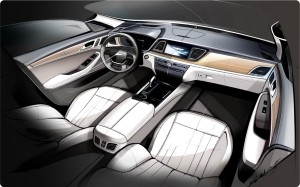All-New Genesis Interior Rendering