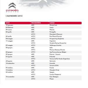calendario 2014 citroen
