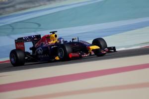 Sebastian Vettel (Red Bull) on track at the Bahrain International Circuit
