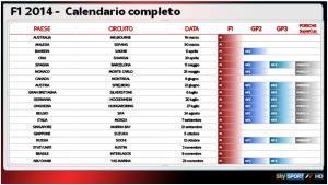 calendario F1 sky