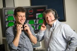 Milano, Eurosport Italia. Fabio Momina e Pietro Balzi.