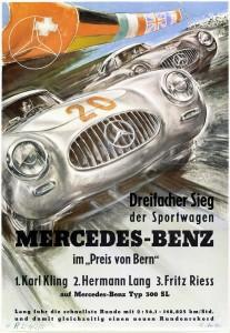 Preis von Bern, 18. Mai 1952. Rennplakat von Hans Liska.