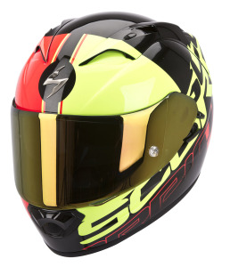 Scorpion Exo1200air Quarterback Black-Red+Yellow Neon