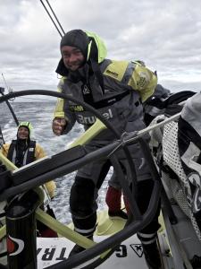 December 8, 2014. Leg 2 onboard Team Brunel. Bouwe Bekking