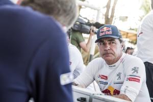 Carlos Sainz at the Bivouac of Rally Dakar 2015, Villa Carlos Paz on January 4th, 2015