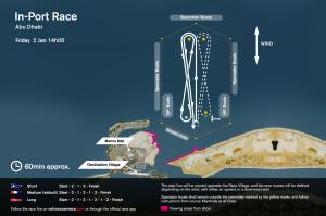 LEG START RACE COURSE MAP ABUDHABI