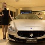 112417_Inaugurazione TridenteClub_Elena Santarelli, Maserati Quattroporte