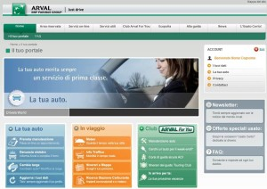 Arval_Smart_Experience_PORTALE DRIVER_Homepage