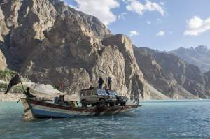 Expedition to K2. Driving on two Mercedes Benz cars G500 from Switzerland to Pakistan.China-Pakistan.Attaabad Lake.Upper Hunza.Hunza valley