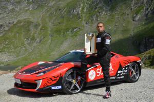 Fabio Barone con Ferrari 458 Italia