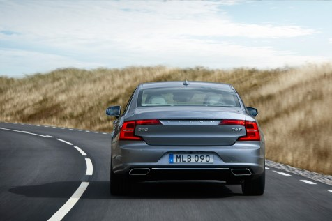 Location Rear Volvo S90 Mussel Blue
