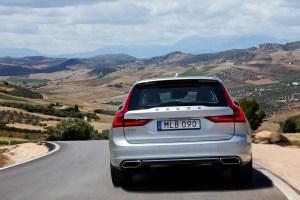 New Volvo V90 location driving