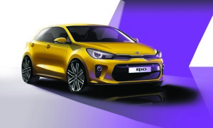 4th Generation Kia Rio_Exterior Front Quarter Rendering