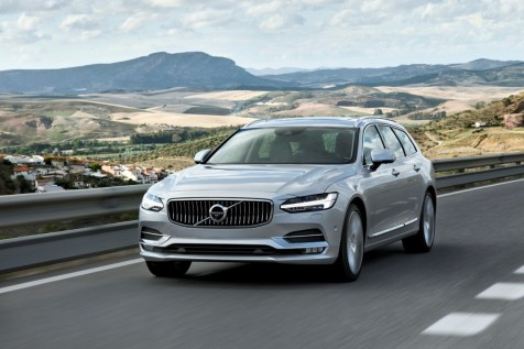 New Volvo V90 location driving