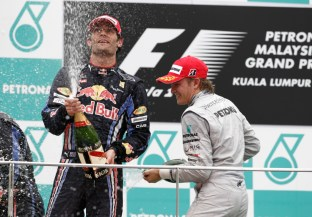 First Silver Arrows Podium - Malaysia 2010