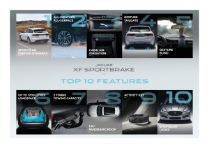 Infografica_Jaguar XF Sportbrake_Top 10 Features