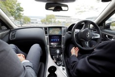Nissan fully autonomous prototype technology on streets of Tokyo