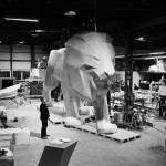 Lion PEUGEOT Making Of 002 – Photo Credit Mikael Pennec