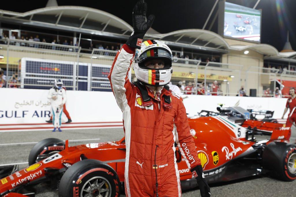 Prima fila tutta Ferrari. La Pole a Vettel