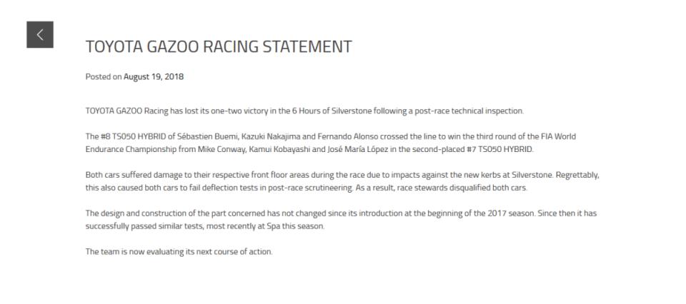 Screenshot_2018-08-20 TOYOTA GAZOO RACING STATEMENT – TOYOTA Motorsport GmbH