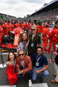 The Riviera 2 cast at the Italian GP in Monza
