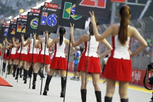 grid girls sinfapore