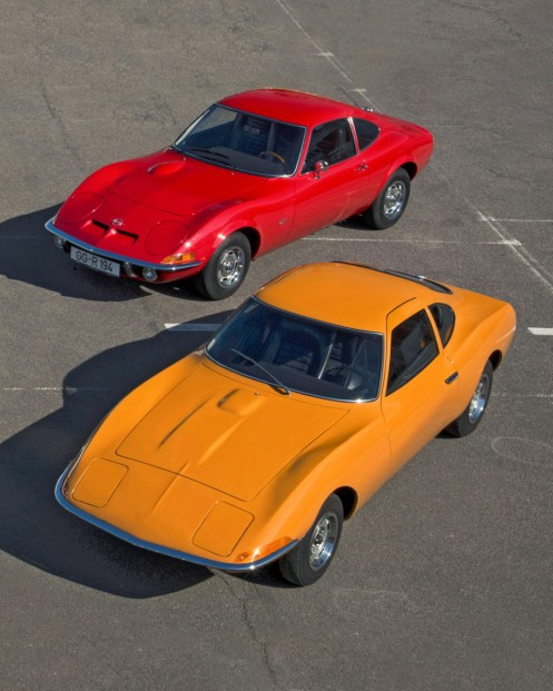 Opel Experimental GT and Opel GT (top)