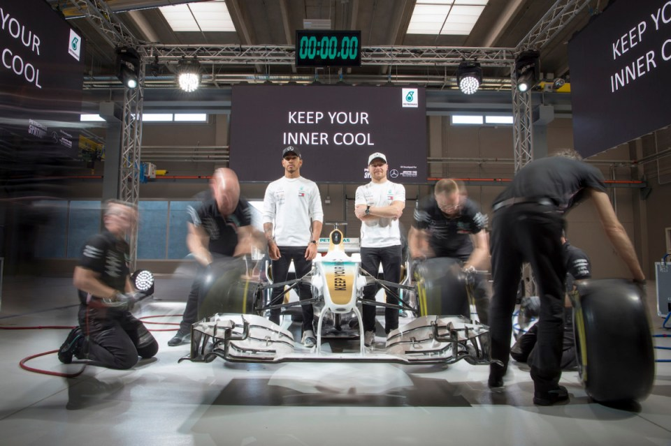 Lewis Hamilton & Valtteri Bottas Keep Their Inner Cool At The Launch Of PETRONAS Syntium Hybrid Performance Lubricants