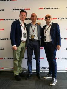 Da sin Roberto Bianchi (founder All Sport), Giorgio Bestetti (Project Managaer KKM Group), Andrea Cani (Presidente KKM Group)