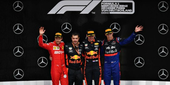 GP Germania 2019 podio Scuderia Toro Rosso