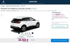 PEUGEOT WEBSTORE – SI RINNOVA L'ONLINE SHOWROOM (2)
