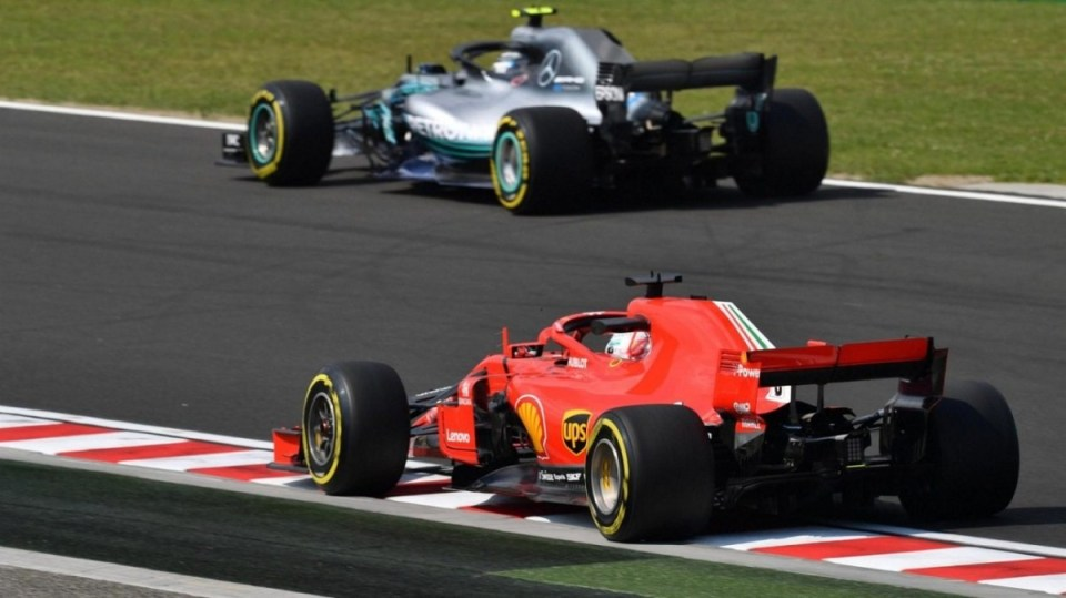 mercedes ferrari test 2020