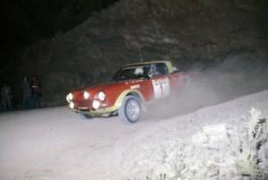 Maurizio Verini, campione europeo rally 1975, Fiat Abarth 124 Rally.