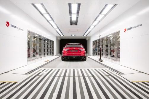 Giulia GTAm at Sauber Engineering wind tunnel (3)
