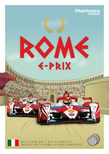 Mahindra Racing poster E-Prix Roma 2021