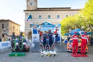 podio rally adriatico