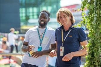 F1® Fragrances ambassador Freddie Hunt meeting Ghetts @ the F1 Paddock Club™ in Silverstone during the Formula 1® Pirelli British Grand Prix_2