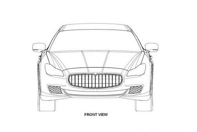 Maserati Quattroporte 2013, sfuggono i bozzetti della