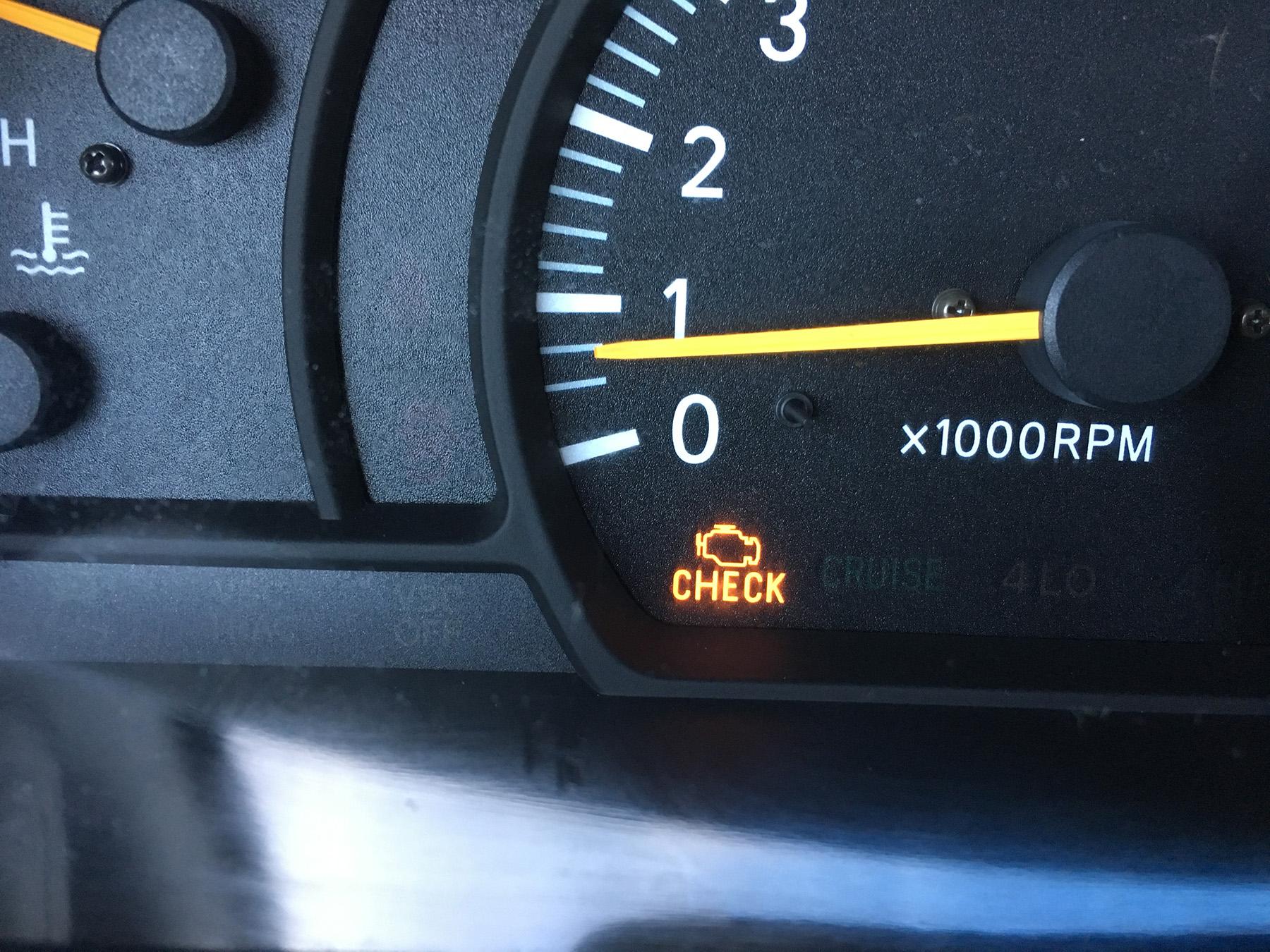 hight resolution of check engine light