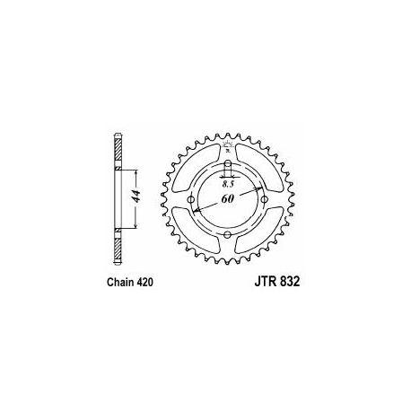 Couronne / pignon arrière Yamaha DT-R, MBK X Limit, 48 ou