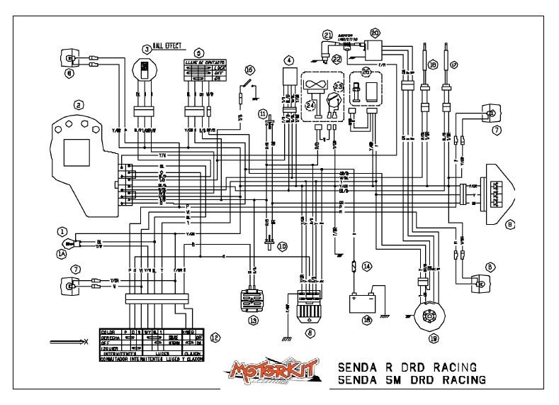 Cablage Derbi Senda R-SM-DRD – Motorkit