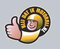 Blij dat ik motorrij logo