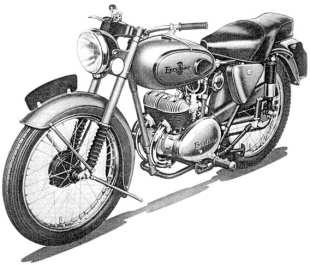 Excelsior Talisman Sports STT2 244 cc van 1955. De Wico-Pacy vliegwielalternator zit op het rechterkrukasuiteinde