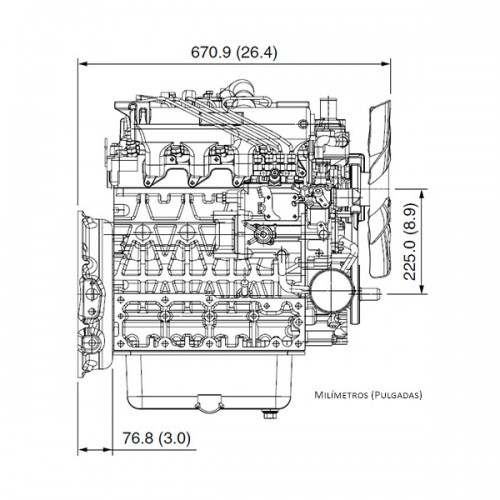Motor Diesel Kubota V2403-M-T 59HP 2400cc