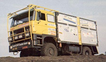DAF FA 3300 4x4 De Koffer. Dakar 1983. Jan de Rooy