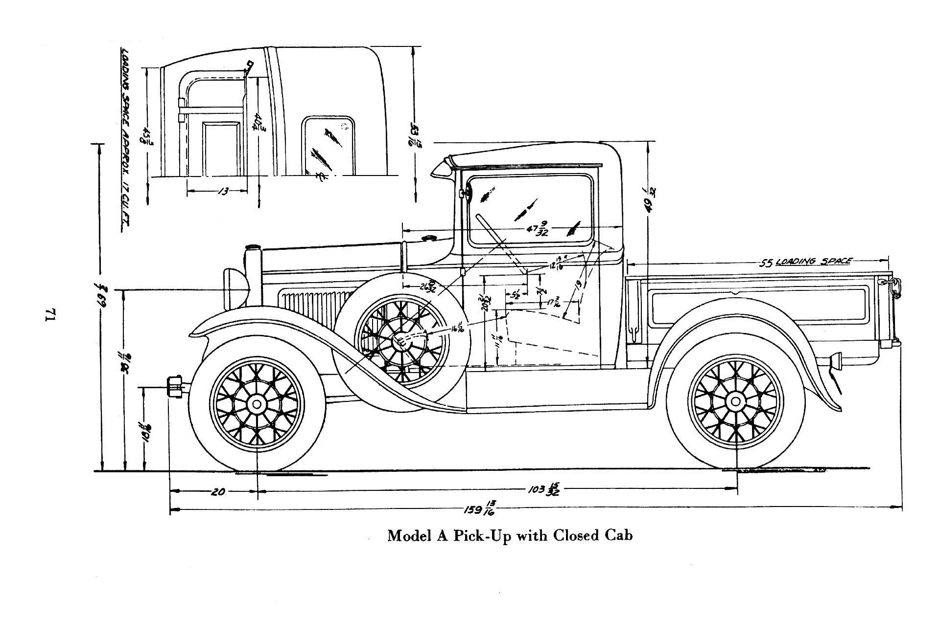 1929 Ford Model Cab Dimensions