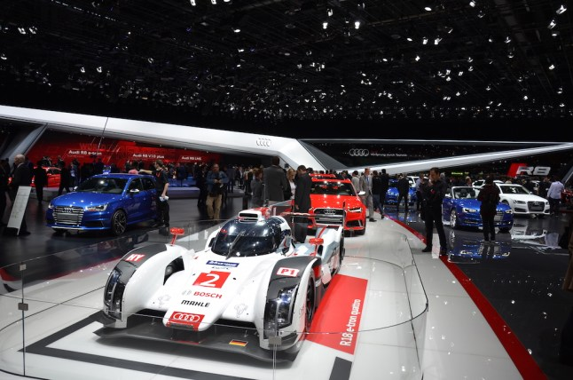 © MotorNews kw / 85. Auto-Salon Genf 2015 / Audi Messestand